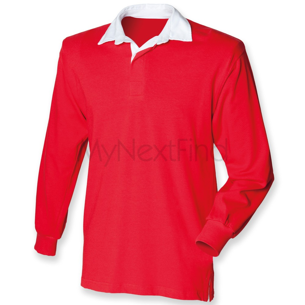 Front Row Mens Womens Long Sleeve Original Rugby Shirt