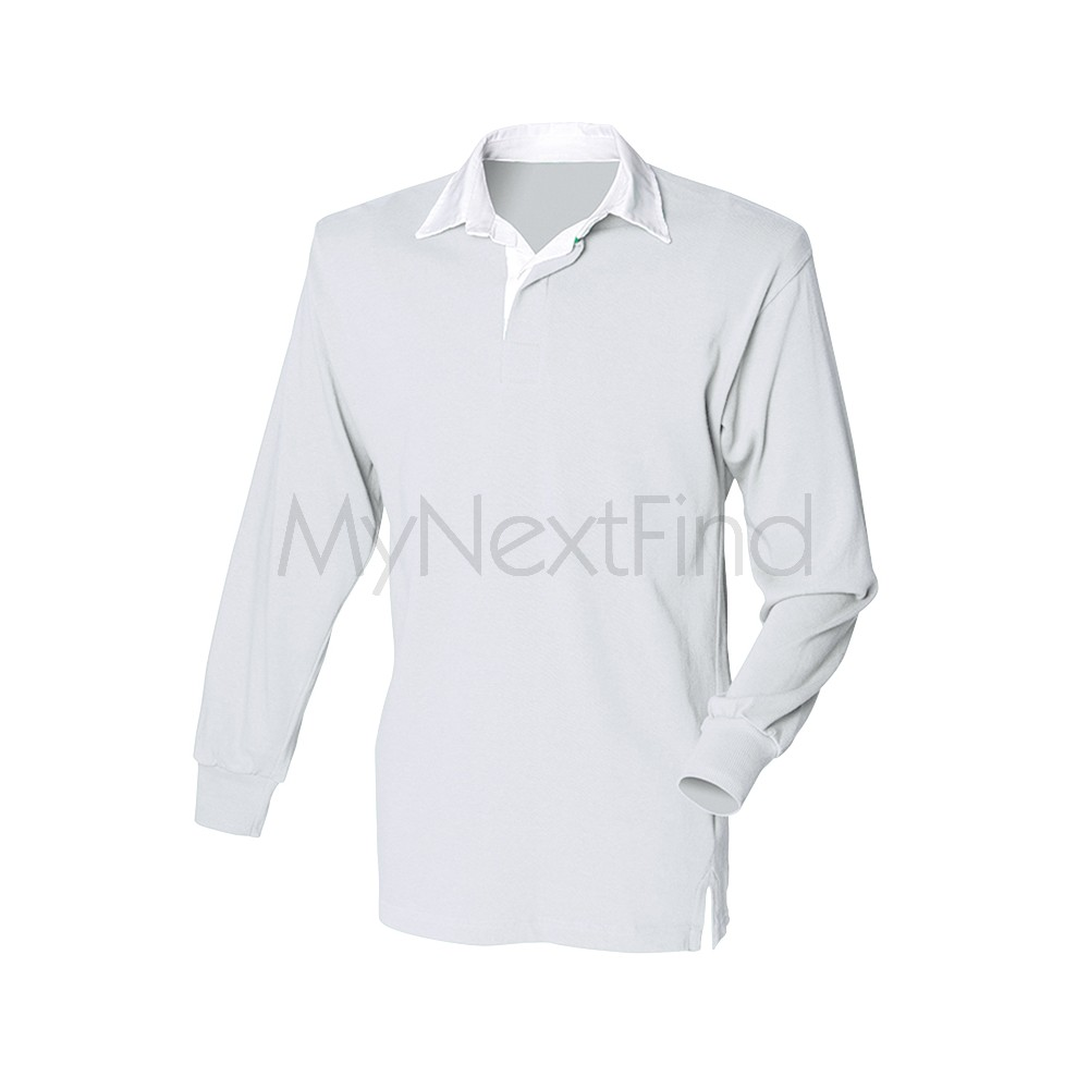 Front Row Mens Womens Long Sleeve Plain Rugby Shirt Ebay
